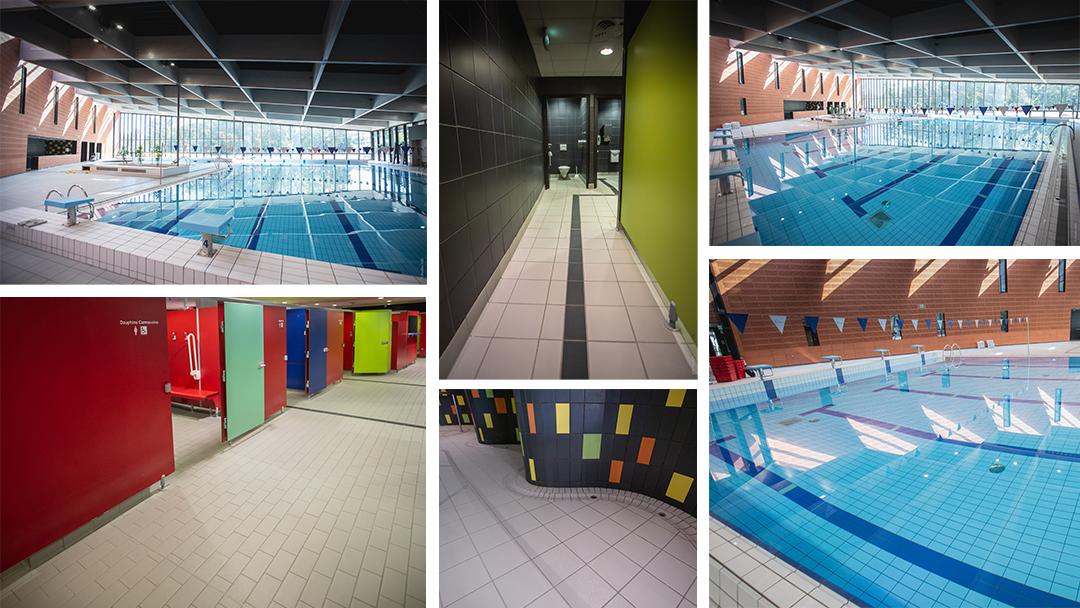 Centre aquatique Carmaux réalisation du carrelage par Veyrac Carrelage